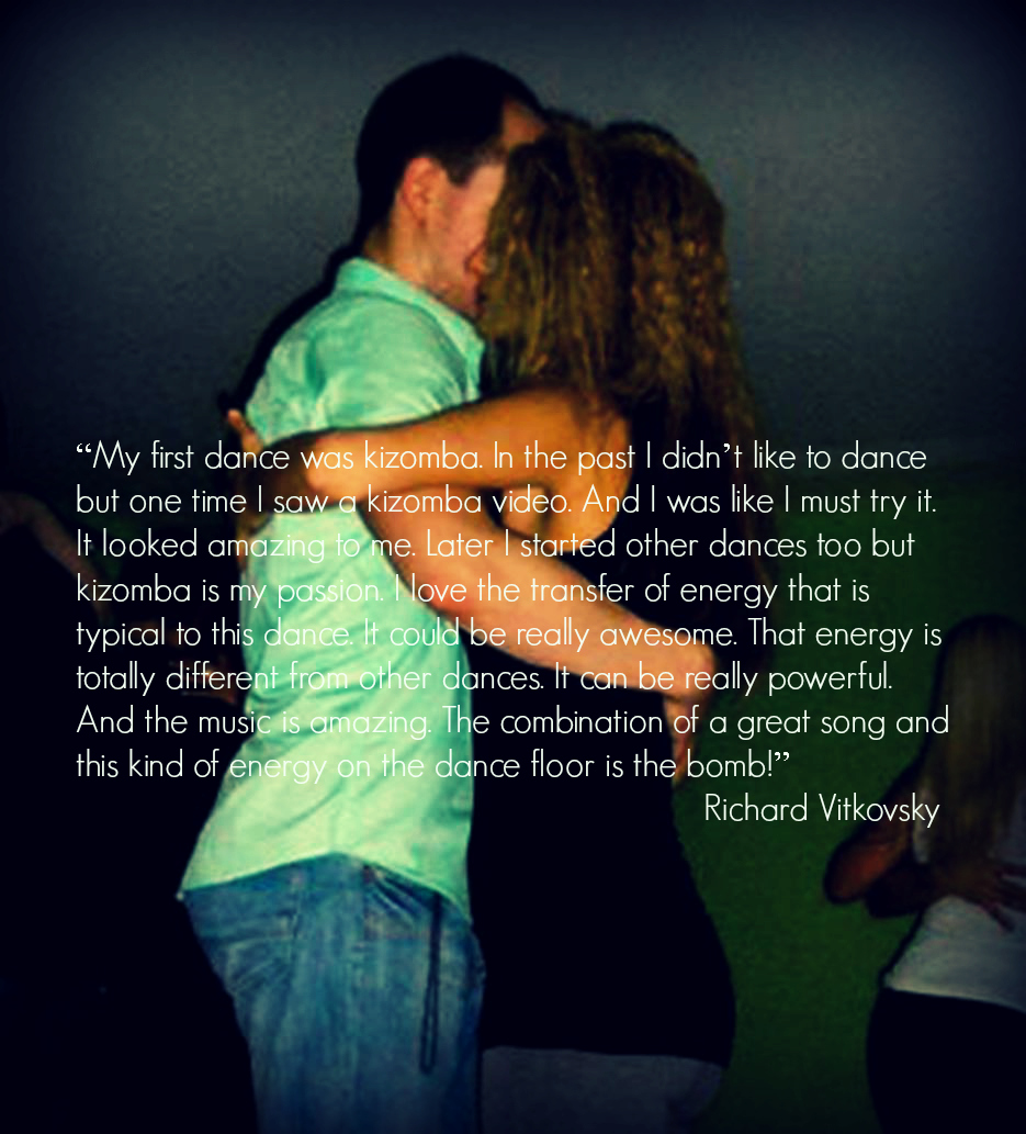 The transfer of energy in kizomba is powerful