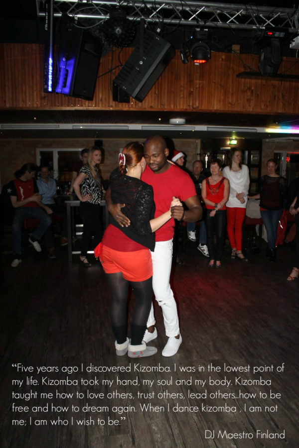 Kizomba taught me how to love others, trust others, lead others...how to be free
