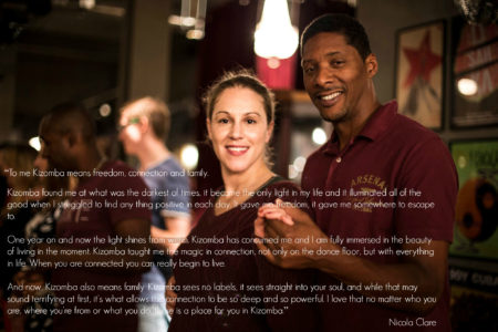 Kizomba means freedom, connection and family